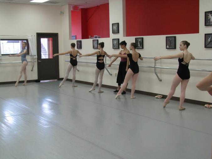 Louisville Ballet School Director Elena Fillmore Diehl gives an audition class at Knoxville Ballet School