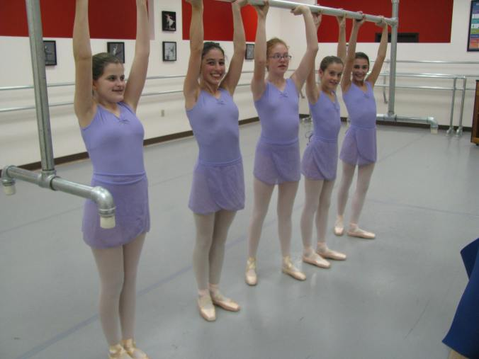 Some of the older girls had their first pointe and pre-pointe training.  And plenty of silliness.