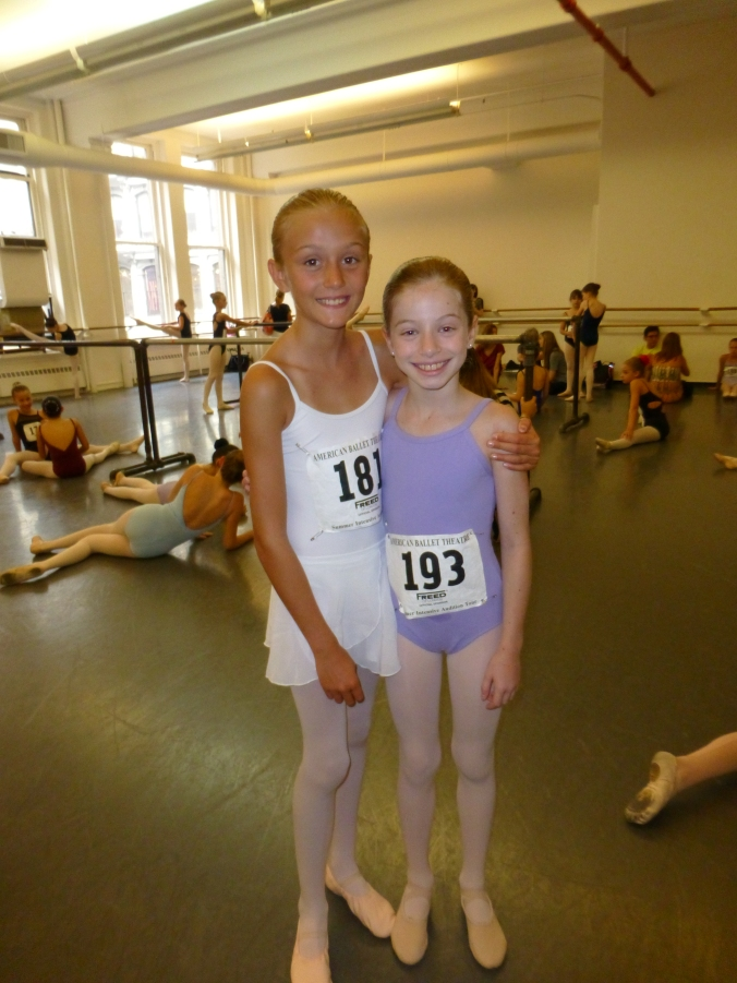 Two weeks earlier my girls were in placement classes on their first morning at ABT.