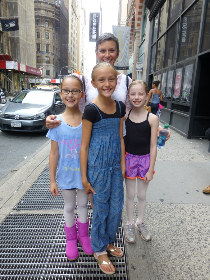 With all three of my students on the sidewalk at 890 Broadway
