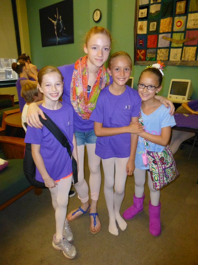 And during their time at ABT they got to meet one of their favorite ABT/JKO students, Catherine Hurlin.  How very exciting.