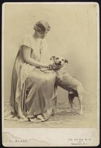 NYPL Digital Collection Woman and Dog