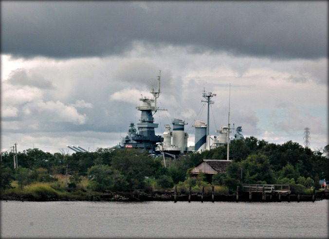 U.S.S. North Carolina, from Wilmington's downtown waterfront