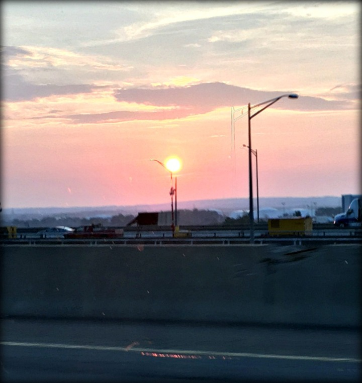 Sunrise over New York, as viewed from New Jersey