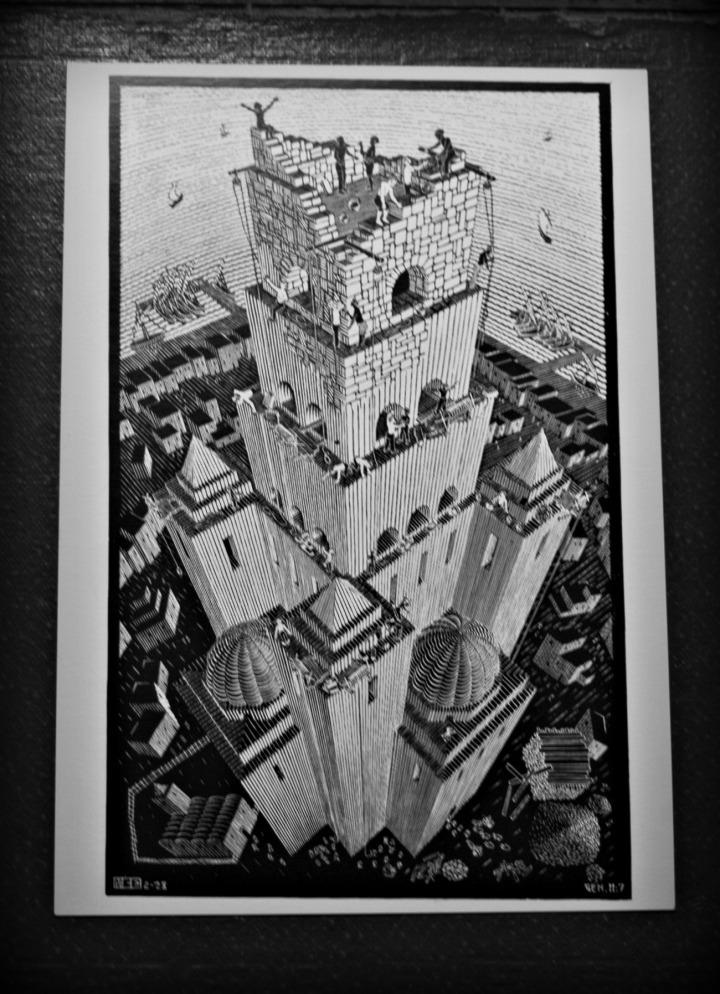 Tower of Babel, M.C. Escher, 1928; woodcut