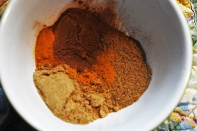 Soup Spices Are Lovely Combined in a Bowl